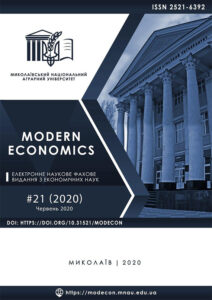 Modern Economics 21 (2020)